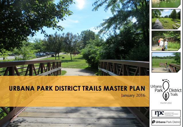 Urbana Park District Trails Master Plan Cover